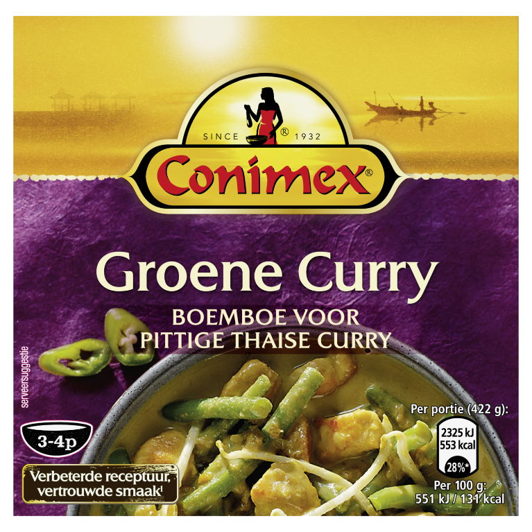 Conimex Boemboes GROENE CURRY 95 GR 8711200403394