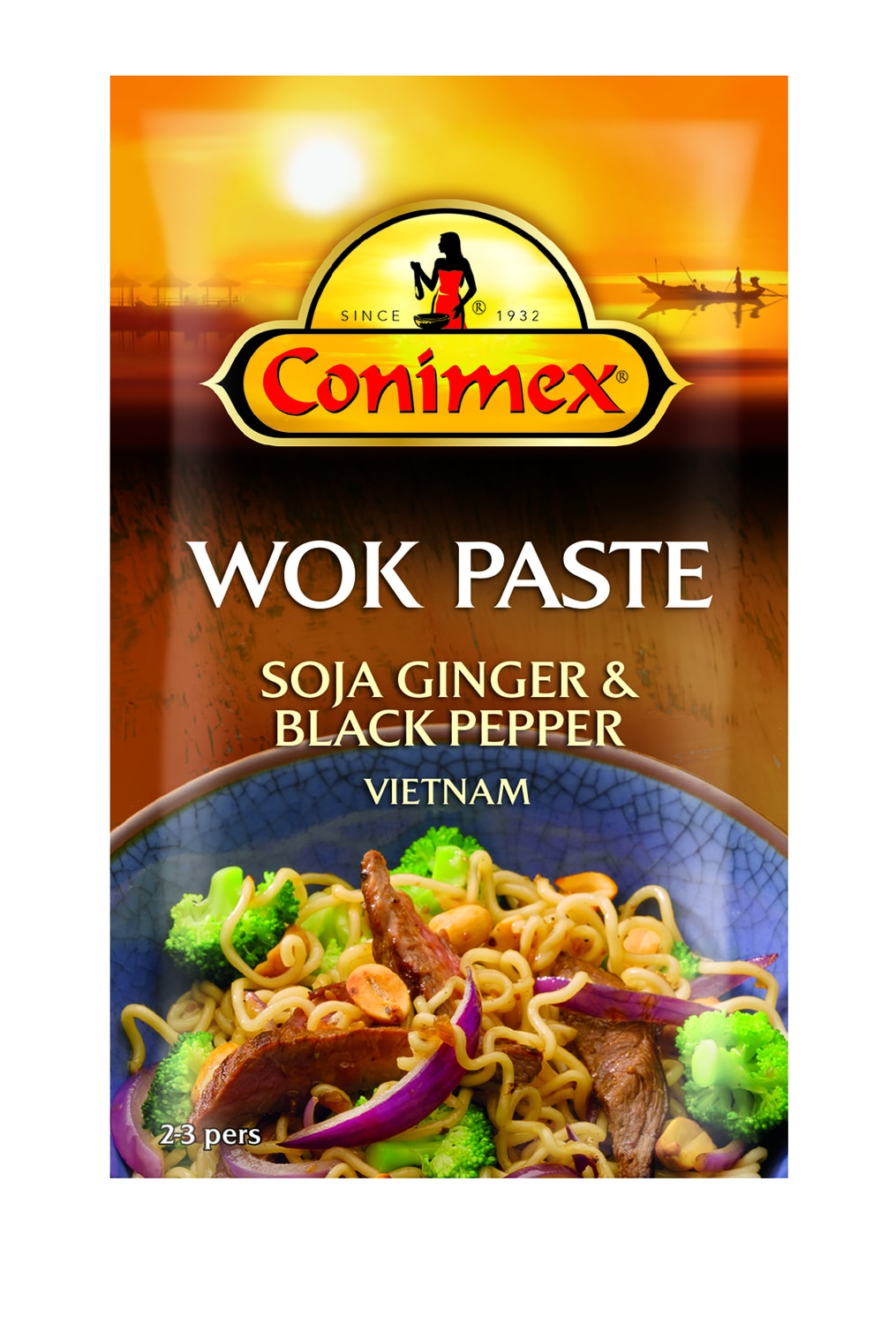 Conimex Soja, Ginger en Black Pepper   130 gr   Wokken