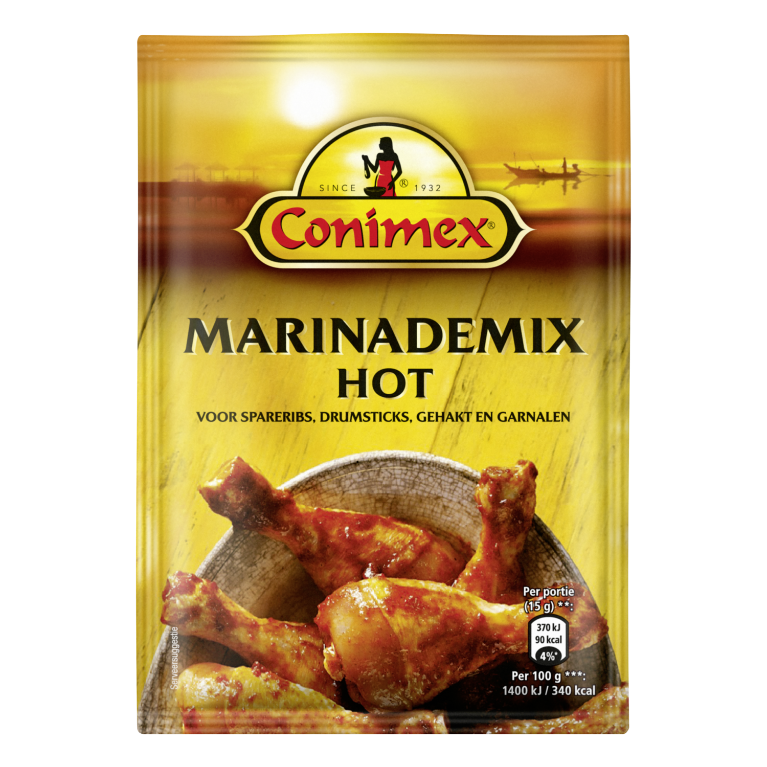 JPEG - Conimex Marinade Hot 33 g 8712100397523